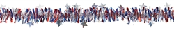 Patriotic Value tinsel Garland | Party Supplies