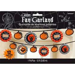 Modern Halloween Fan Banner Garland