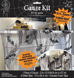 Glitter Bat & Gauze Kit | Party Supplies