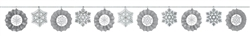 Winter Fan Banner Garland w/Glitter | Party Supplies