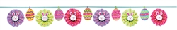 Easter Fan Banner Garland with Glitter | Party Supplies