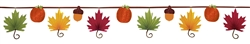 Leaf-Shaped Fan Banner Garland | Party Supplies