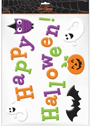 Large Happy Halloween Gel Clings | Halloween Party Supplies