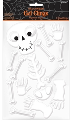 Small Skeleton Gel Clings | Party Supplies