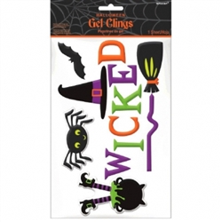 Small Witch Gel Cling | Party Supplies
