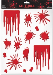 Asylum Blood Splats & Drip Gel Clings | Party Supplies