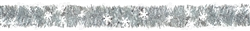 Snowflake Tinsel Boa Garland w/Prismatic Snowflake | Party Supplies