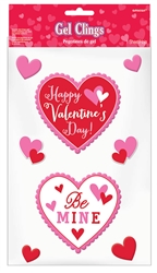 Valentine Small Gel Clings | Party Supplies