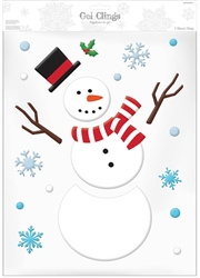 Snowman Large Gel Cling | Party Supplies