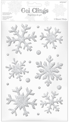 Snowflake Small Glitter Gel Cling | Party Supplies