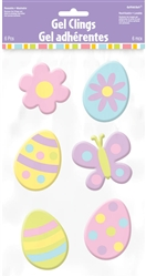 Easter Small Gel Clings | Party Supplies