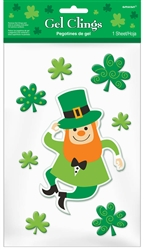 Leprechaun Small Gel Clings | Party Supplies