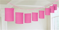 Pink Lantern Garland Hanging Decorations |party supplies