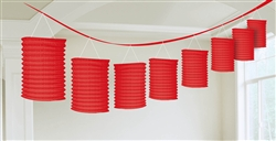 Red Lantern Garland Hanging Decorations | Party Decorations