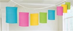 Multi Color Lantern Garland | Luau Party Supplies