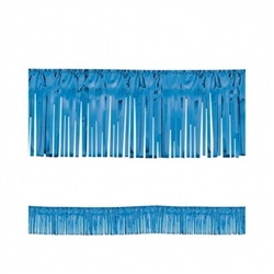 "Blue 15"" Metallic Fringe Garland 