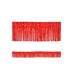 "Red 15"" Metallic Fringe Garland 