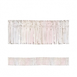 "Iridescent 15"" Metallic Fringe Garland 