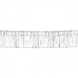 "Silver 15"" Metallic Fringe Garland 