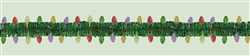 Holiday Tinsel Garland w/Prismatic Foil Lights | Party Supplies
