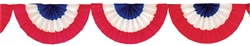 Patriotic Paper Bunting Garland | Party Supplies