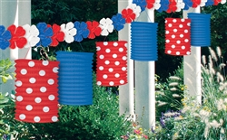 Patriotic American Summer Lantern Garland | Party Supplies