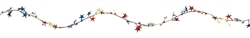 Patriotic Prismatic Stars Wire Garland | Party Supplies