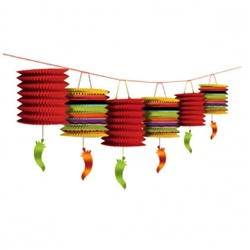 Fiesta Paper Lantern Garland | Party Supplies