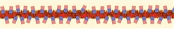 Patriotic Flags Tinsel Garland | Party Supplies