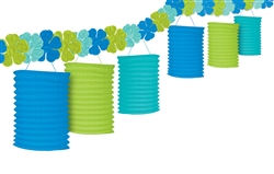 Floral Paradise Cool with Flowers Paper Lantern | Luau Party Supplies