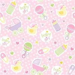 Baby Girl Pink Gift Wrap | Party Supplies