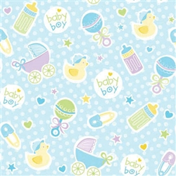 Baby Boy Blue Gift Wrap | Party Supplies