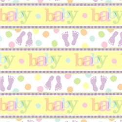 Baby Steps Gift Wrap | Party Supplies