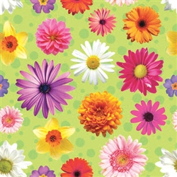 Vibrant Petals Gift Wrap | Party Supplies
