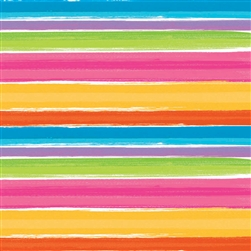 Bright Stripe Gift Wrap | Party Supplies
