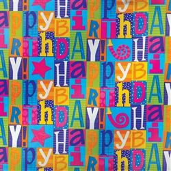 Happy Birthday Fun Jumbo Foil Gift Wrap | Party Supplies