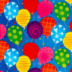 Bright Balloons Jumbo Embossed Gift Wrap | Party Supplies