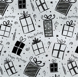Silver Gifts Jumbo Foil Gift Wrap | Party Supplies