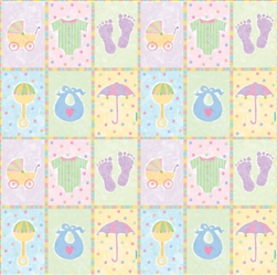 Baby's Nursery Gift Wrap | Party Supplies