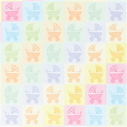 Baby Buggy Gift Wrap | Party Supplies