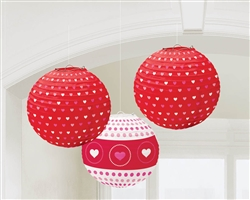 Valentine Lantern Hanging Decorations | Valentines decorations