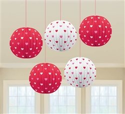 Valentine Mini Lantern Hanging Decorations | Valentines decorations