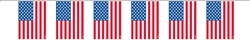 Patriotic Flag Garland | Party Supplies