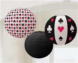 Place Your Bets Round Printed Lanterns | Party Supplies