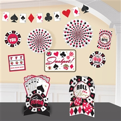 Place Your Bets Decorating Kit | Party Supplies