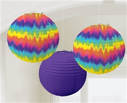 Feeling Groovy Paper Lanterns | Party Supplies