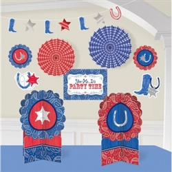 Bandana & Blue Jeans Decorating Kit | Party Supplies