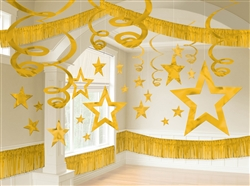 Gold Giant Room Decorating Kit | Party Supplies