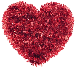 Heart Tinsel Decoration | Valentines decorations