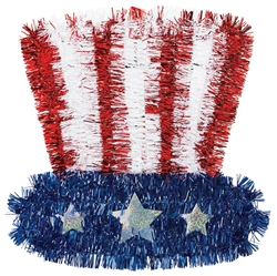 Uncle Sam Tinsel Hat | Patriotic Party Supplies